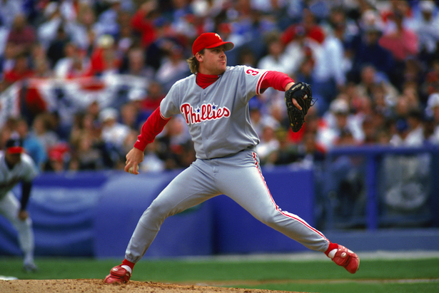 ESPN MLB analysts Curt Schilling was a member of the Philadelphia Phillies from 1192 through 2000. (Photo credit: Jim Gund/Getty Images)