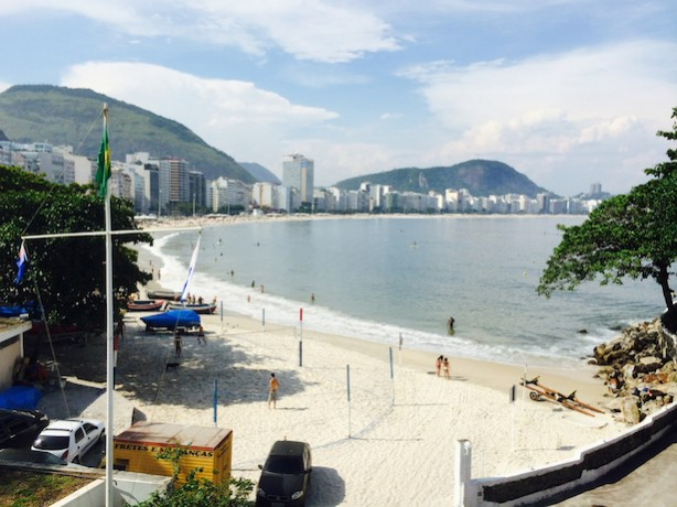 The view of Copacabana Beach from ESPN's production headquarters for the 2014 FIFA World Cup in Brazil. (Jed Drake/ESPN)