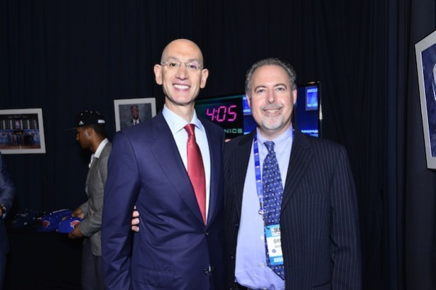 NBA Commissioner Adam Silver (l) and ESPN coordinating producer Bruce Bernstein (Photo courtesy of NBA Communications)
