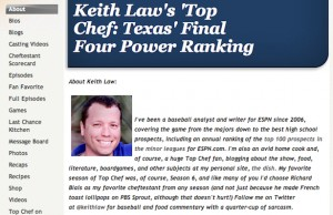 Keith Law's Top Chef: Texas' Final Four Power Rankings
