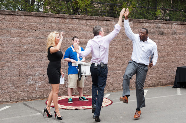 "Photo of ""Madden 13"" cover candidates Cruz, Foster, and McCoy visit ESPN"