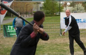 Jim Abbott - Softball - April 18, 2012