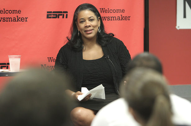 Photo of WNBA President Richie on her job, league, and favorite ESPN show