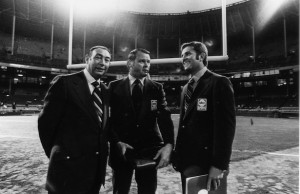 MONDAY NIGHT FOOTBALL_HOWARD COSELL, KEITH JACKSON, DON MEREDITH
