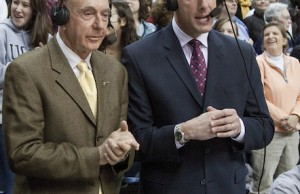 ESPN commentators Dick Vitale (L) and Dan Shulman. (ESPN)