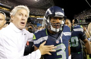 Rookie QB Russell Wilson has rewarded Seahawks head coach Pete Carroll's faith in him. (Credit:  Ric Tapia/iCoN sMi/CorBis/ESPN The Magazine)