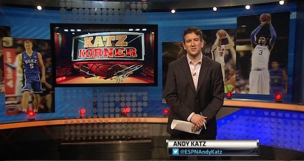 Photo of Front & Center: Analyst Andy Katz on his ESPNU show Katz Korner