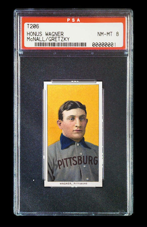 The T206 Honus Wagner baseball card. (credit?)