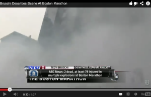 Screengrab of Boston Marathon coverage