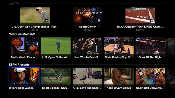WatchESPN Now Available on Apple TV - ESPN Front Row
