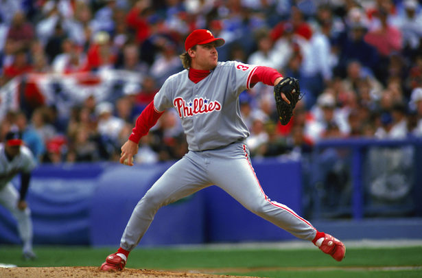 Photo of Baseball Tonight's Curt Schilling, John Kruk celebrate 20th anniversary of '93 Phillies; Schilling joins Phillies 'Wall of Fame'