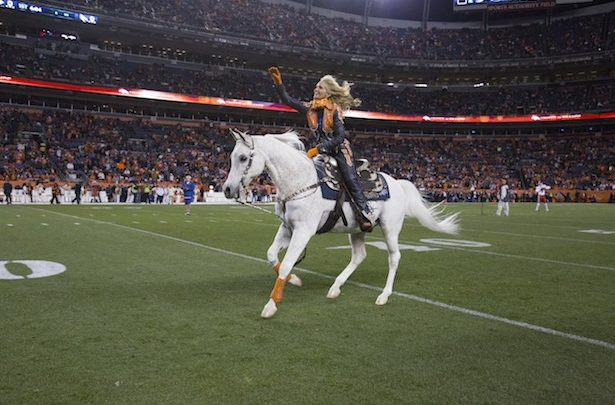 "Photo of ESPN The Magazine gets ""Thunder""struck by Broncos' mascot"