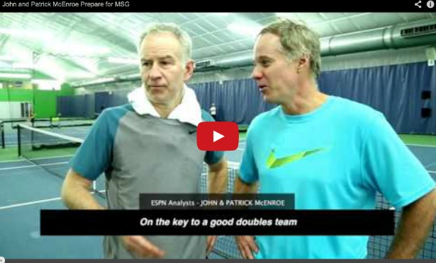Photo of ESPN's McEnroe brothers prepare to take on Bryan twins, Father Time