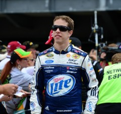 Brad Keselowski at the 2013 Brickyard 400  (Phil Ellsworth/ESPN Images)
