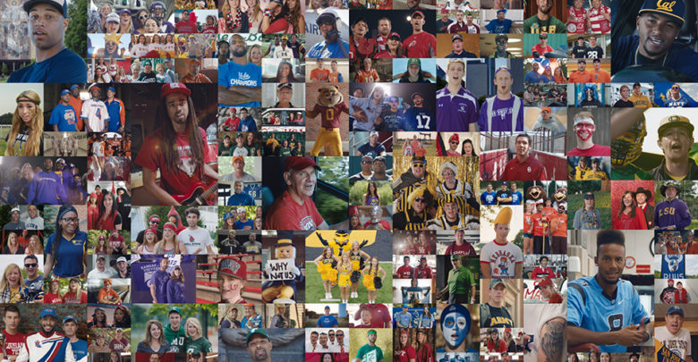 """Photo of """"Who's In?"""" campaign traversed the world of college football"""