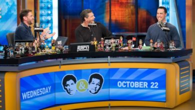 Photo of As the show's co-host, Yankee Mark Teixeira turns tables on Mike & Mike