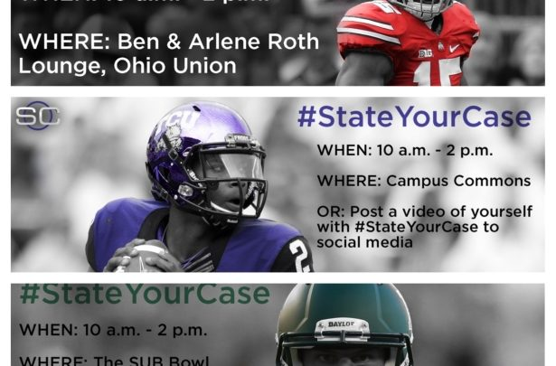 Photo of #StateYourCase encourages fans to use the art of persuasion