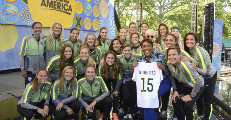 Photo of WNT visits GMA prior to Saturday match on ESPN