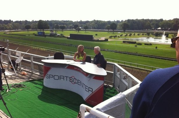 Photo of SportsCenter on the Road from Saratoga Race Course