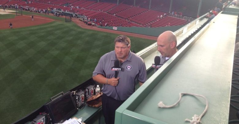 Photo of Sunday Night Baseball airs from atop Fenway Park's Green Monster
