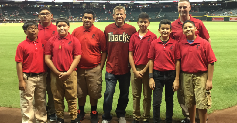 Photo of Brenkus blinded them with science – and a first pitch – at D-backs game