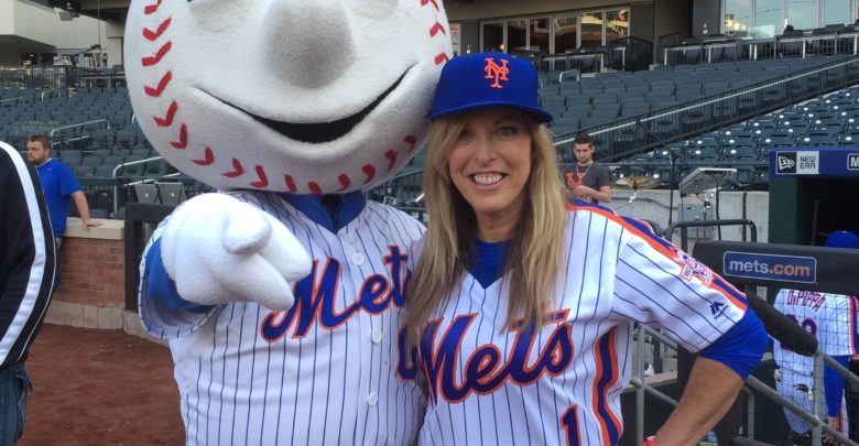 Photo of SportsCenter anchor Linda Cohn joins celebrities during event at Citi Field