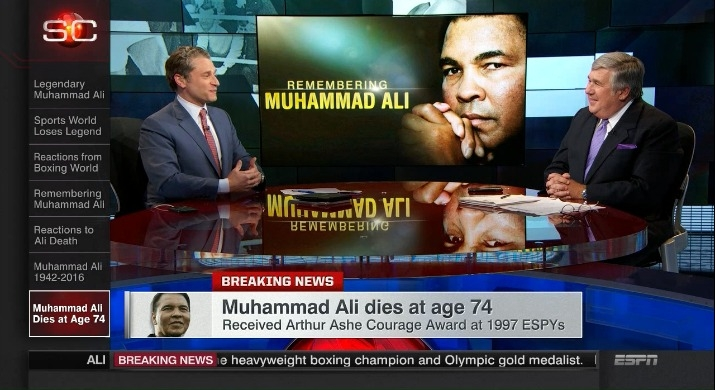 Photo of Ley and Schaap look back at initial hours of SportsCenter's Ali coverage