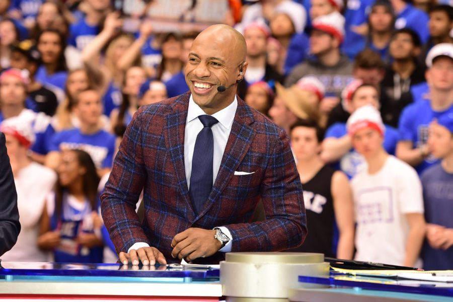 Jay Williams on the set of College GameDay. (Phil Ellsworth/ESPN Images)