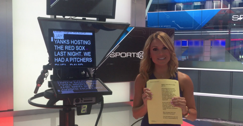 Photo of Molly McGrath, a former ESPN PA, returns as reporter, host