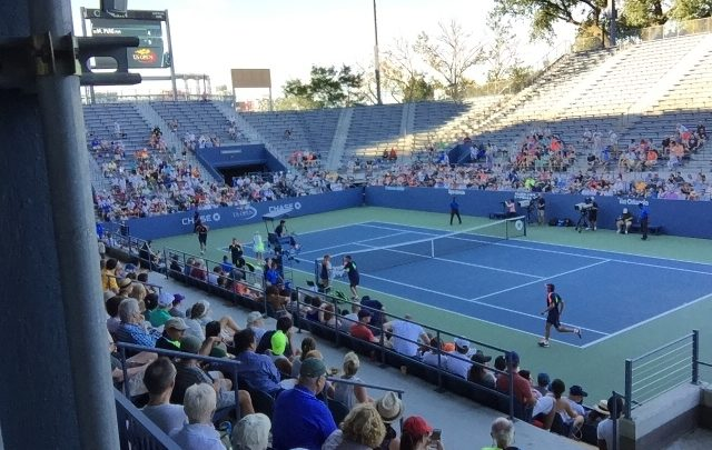 "Photo of Bringing the Grandstand Court (now ""P-6"") back to life at the US Open"