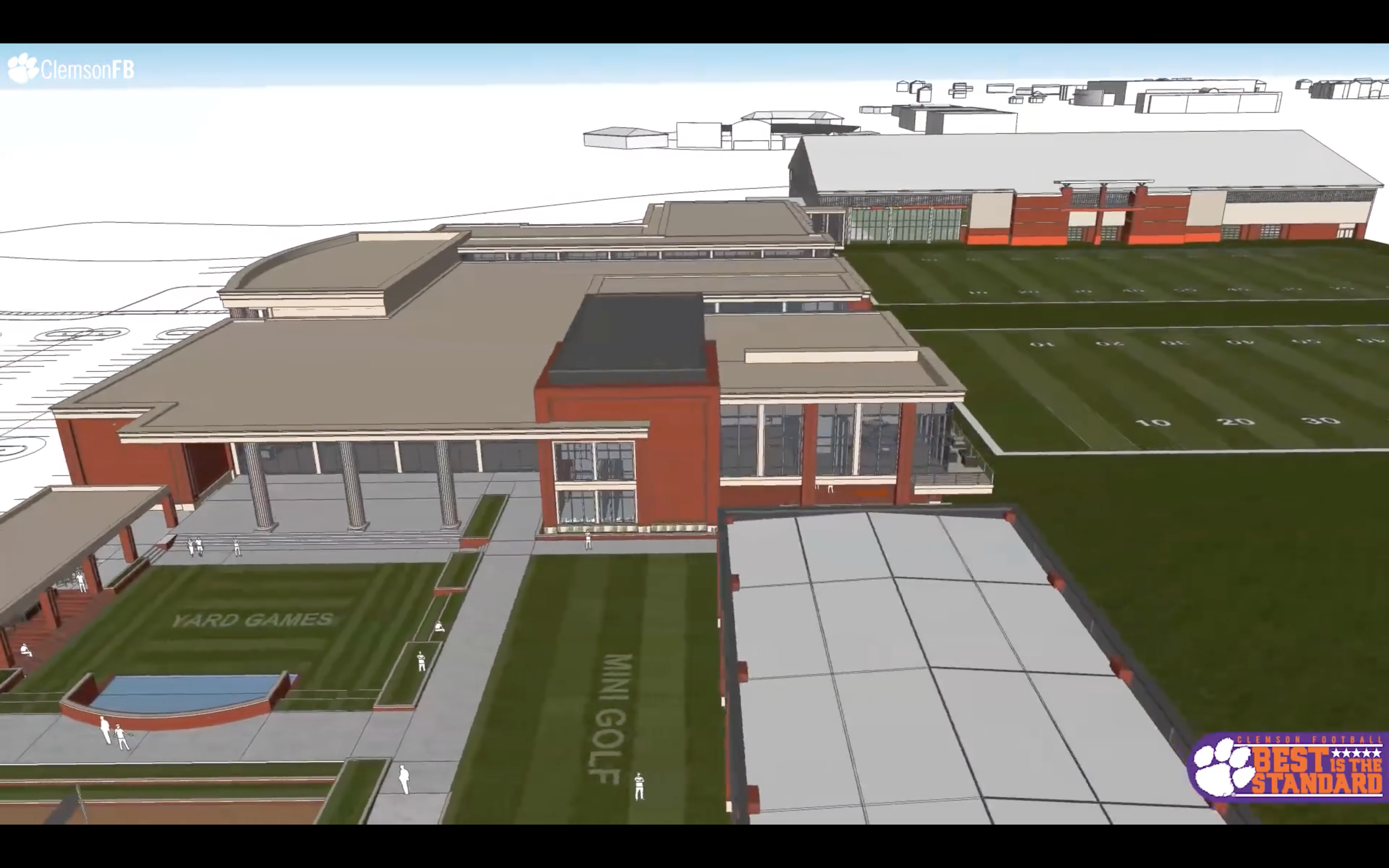 Preview of the new  Clemson football complex.