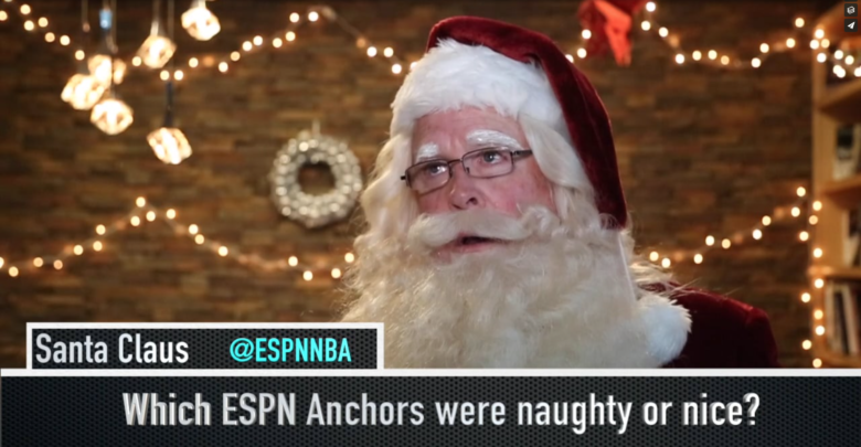 Photo of Commissioner Claus ready for Christmas Day NBA feast on ABC and ESPN