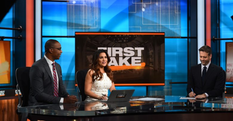 Photo of Former NBA, UConn star Caron Butler visits ESPN