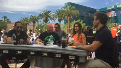 Photo of First Take travels to Vegas to preview Mayweather-McGregor; special airs tonight from Vegas