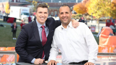 Photo of Team Player: Rece Davis with Rodney Perez
