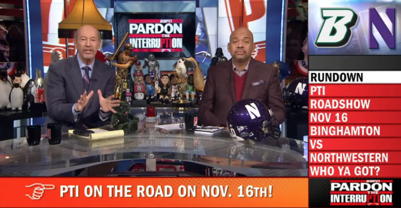 Photo of PTI Double-team: Kornheiser, Wilbon to host show from Northwestern Nov. 16