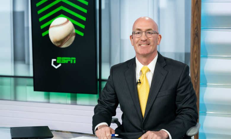 """Photo of ESPN's Matt Schick: """"Mike Rooney is the Kevin Bacon of college baseball"""""""